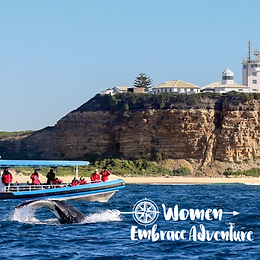 Women Embrace Whale Watching Boat Tour and Lunch Adventure