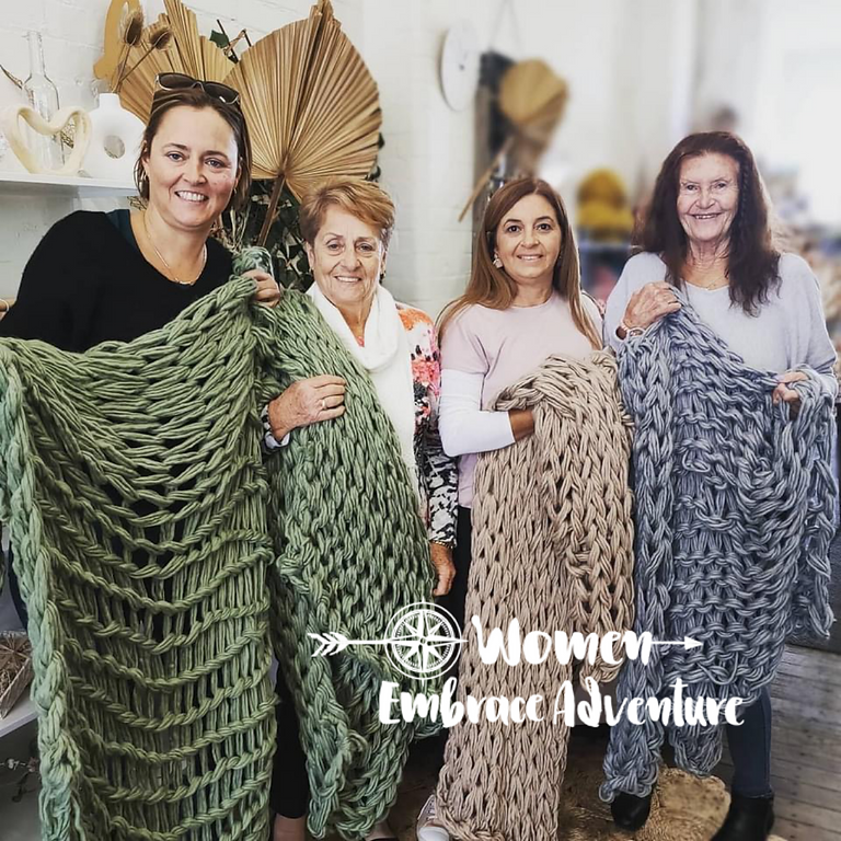 Chunky Hand Knitted Throw Workshop