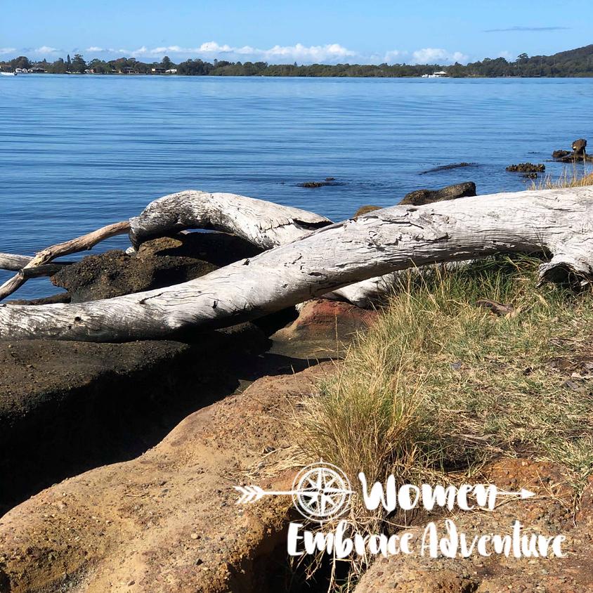 Women Embrace Hiking Wangi Wangi NSW