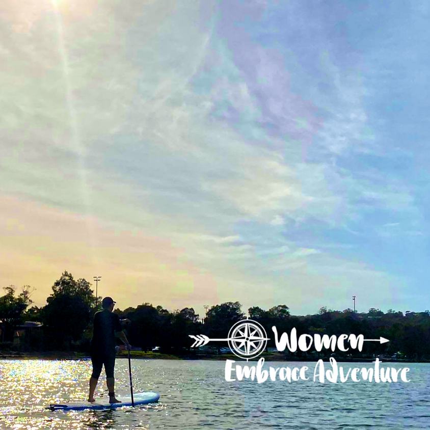 Women Embrace Sunset SUP and Bubbles - Booragul NSW