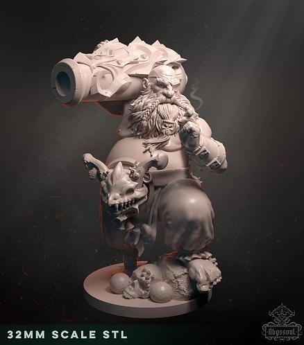 Faenir, Gunner of the Kraken (32mm). Digital Edition.