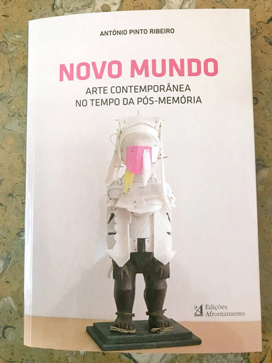 Sacred Clown sculpture on front cover book New World, Contemporary Art in Post-Memory Time + article