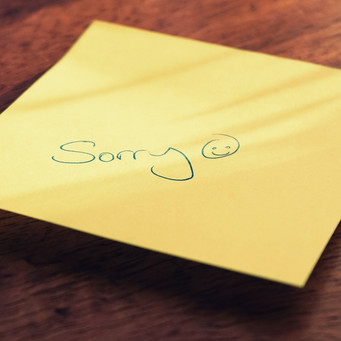 Adults can apologize.