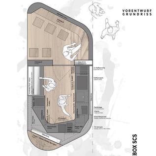 Vorentwurf Kaffeebox - Grundriss