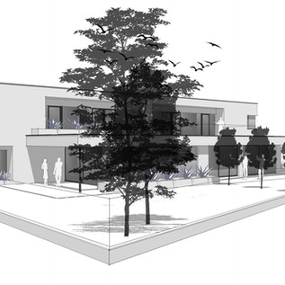 Entwurf Doppelhaus - Regau