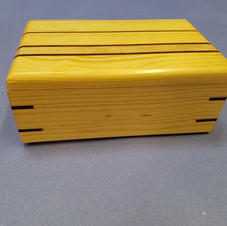 Box with inlay and splines