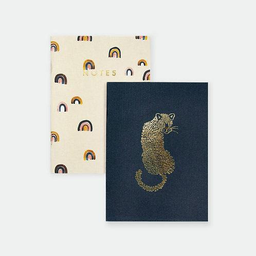 Pocket Notebooks Duo - Leopard & Rainbow