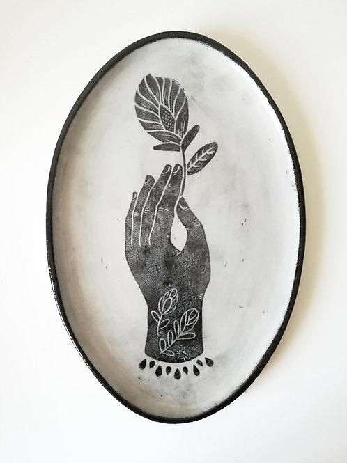 Ceramic Oval Plate - Hand
