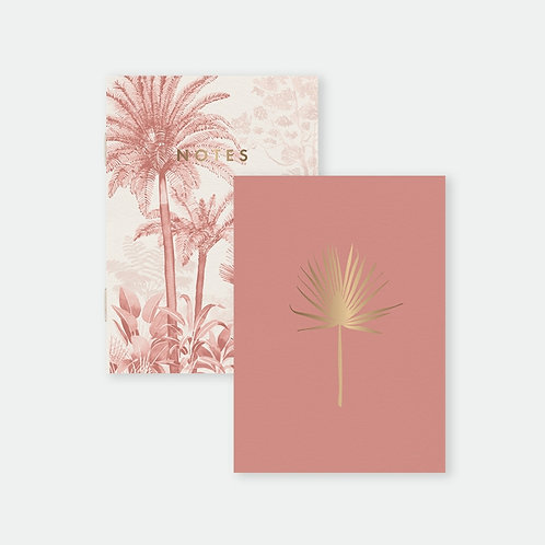 Pocket Notebooks Duo - Pink Forest