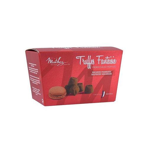 Chocolate Truffle with Raspberry Macaron Chips