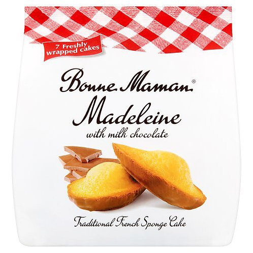 Madeleine with chocolate