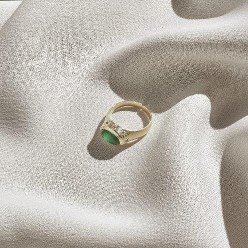 Ila Ring - Green Agate