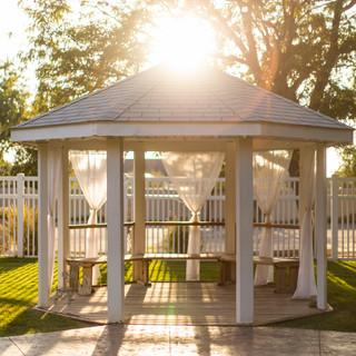 White Gazebo at Oak Hills Reception and Event Center