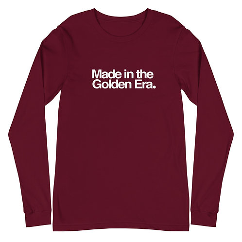 Made In The Golden Era Unisex Long Sleeve Tee (Cardinal)