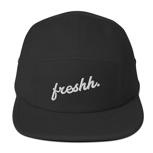 Freshh. Five Panel Cap (black)