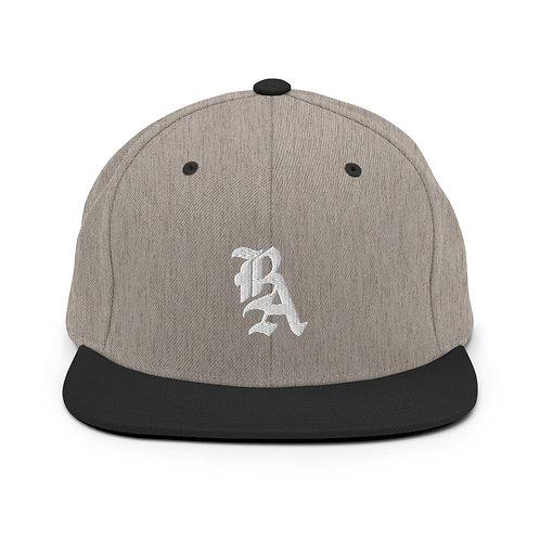 BA Logo Snapback Hat (Grey)