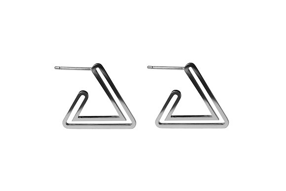 Triangle Outline Hoops