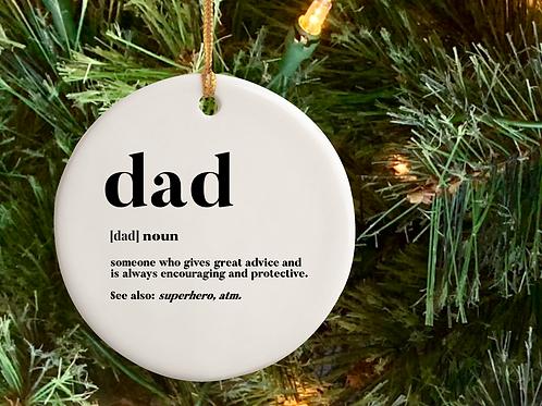 Dad Ceramic Ornament PreOrder