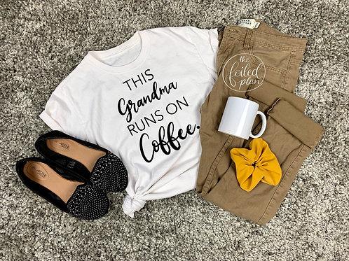 This Grandma Runs on Coffee T-Shirt