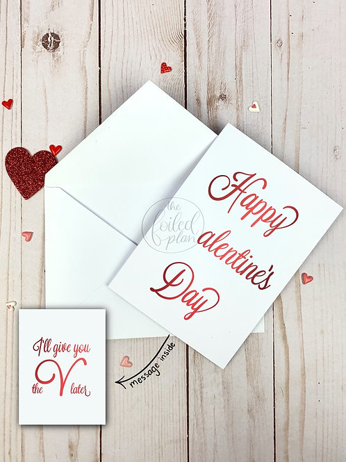 I'll Give You The V Foil Valentine's Day Card