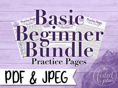 Basic Beginner Brush Stroke Practice Pages