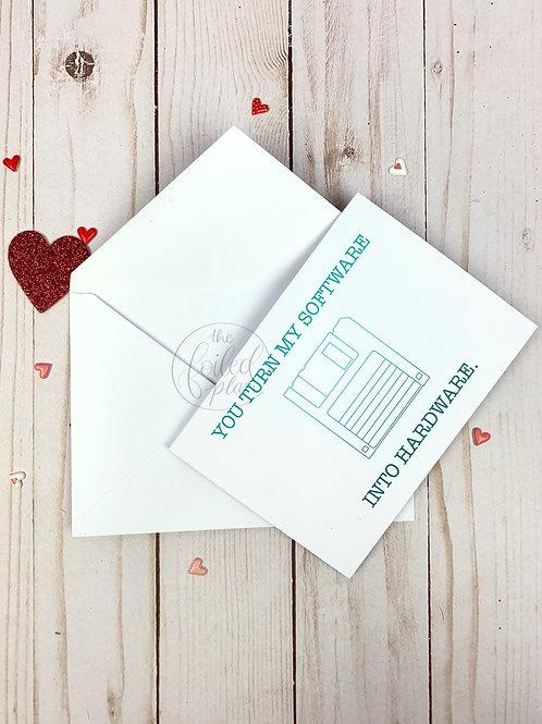 Software Hardware Foil Valentine's Day Card