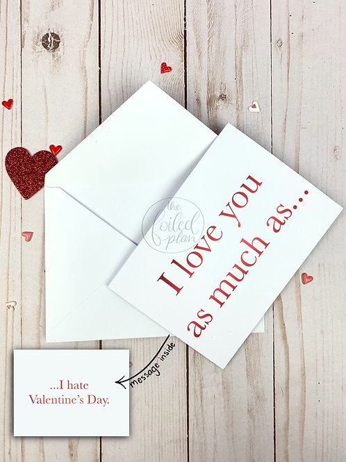 I Love You Foil Valentine's Day Card