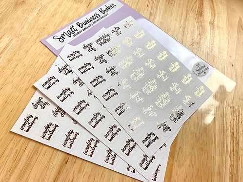 Small Business Babes - Planner Sticker Pack ROSE-GOLD