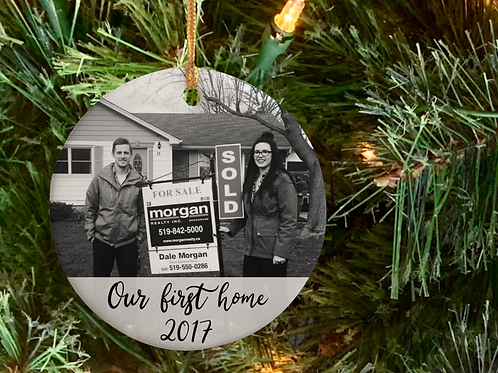 Our First Home Ceramic Ornament PreOrder