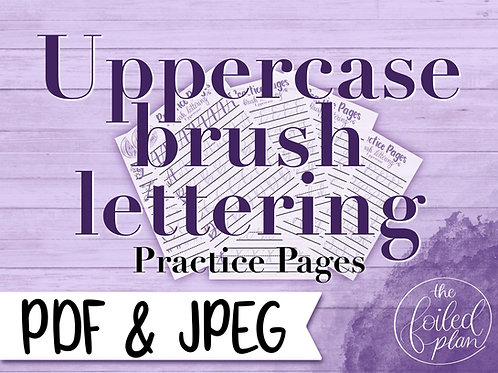 Uppercase Brush Lettering Practice Pages