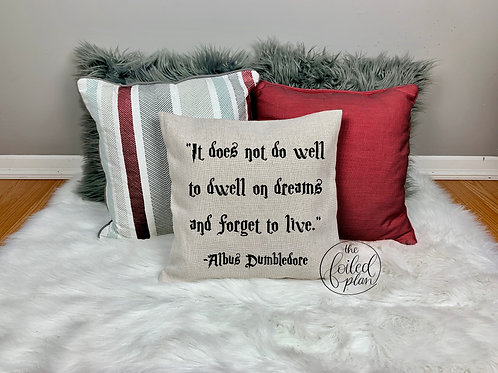 HP Quote - Pillow Cover