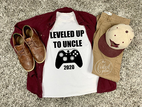Leveled/Levelled Up to Uncle 2020 T-Shirt