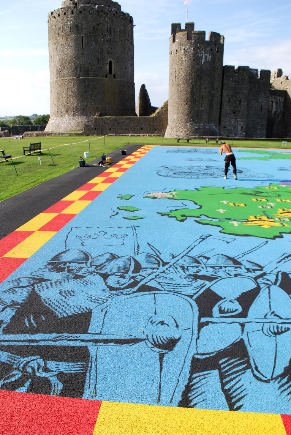 Floor Mural Painting, Pembroke castle.jp