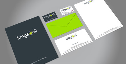 Kingswell stationery design