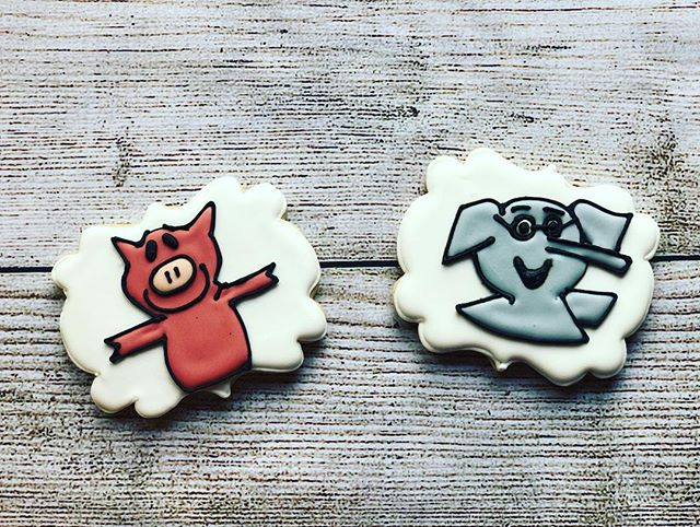 Elephant and Piggie cookies for a first