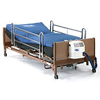 Hospital Bed, rails, low-air-loss mattress