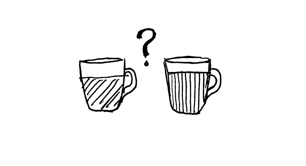 """For this scene, we attached an image target on the bottom of two cups. Like Alice in the story, user does not know which of the """"potion"""" would make them smaller."""