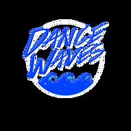 dance waves logo Black background .png