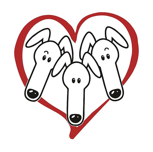 Greyhound Greeting Card - Heart of Hounds
