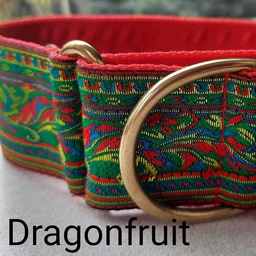 Kitsch 50mm Martingale Collar - Dragonfruit