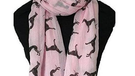 Greyhound Print Scarf