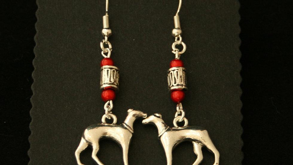 Handmade Greyhound Earrings
