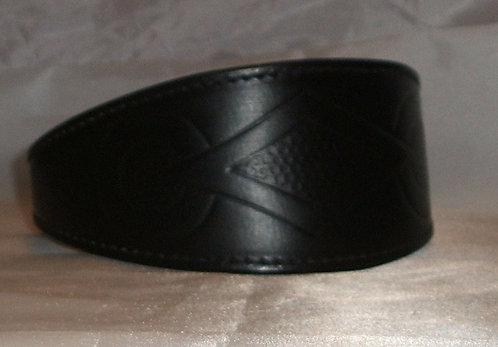 Leather Collar - Retro Design