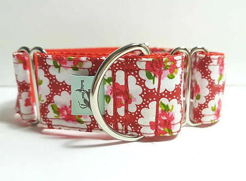 Martingale Collar - Vintage Rose