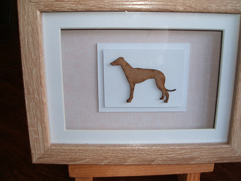 Light Oak Box Frame Greyhound Picture