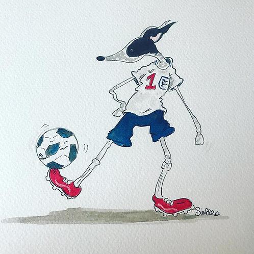 Nellie Doodles Print - Footballing Hound