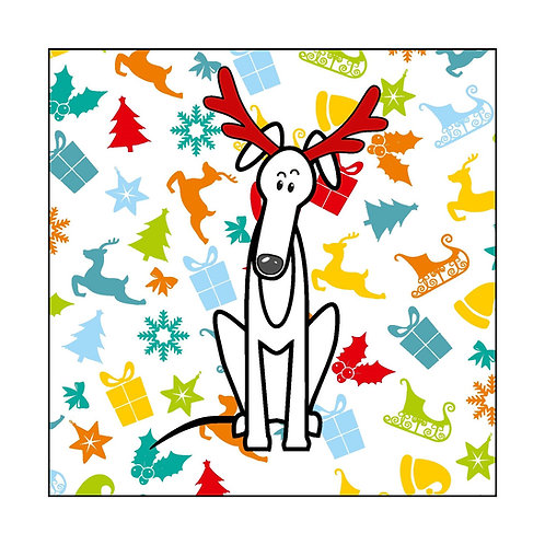 Pack of 10 Greyhound Christmas Cards (A)