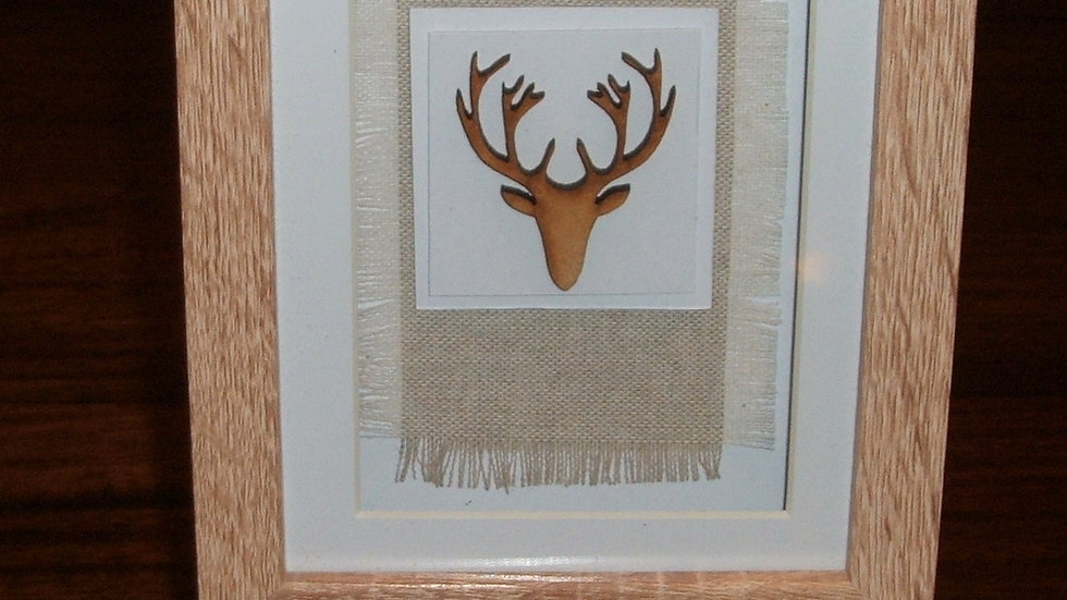 Box Frame Stag Picture