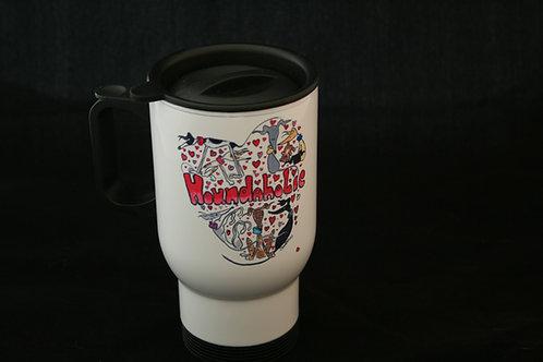 Nellie Doodles 'Houndaholic' Travel Mug