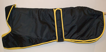 Walking-out-Coat-Black-with-Yellow-Trim.